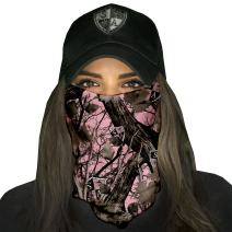 S A - 1 UV Face Shield - Pink Forest Camo - Multipurpose Neck Gaiter, Balaclava, Elastic Face Mask for Men and Women