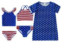 Girls' 5 Piece Girls Fashion Mix and Match Swimsuit Bathing Suit Bathingsuit Set