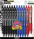 Zebra Pen Z-Grip Retractable Ballpoint Pen, Medium Point, 1.0mm, Assorted Business Colors - 24 Pieces (Packaging may vary)