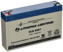 Lithonia Lighting ELB 0607 Rechargeable Emergency Replacement Battery, 250 watts, 6 Volts, 7 Amp, White