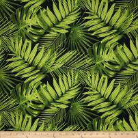 Tempo Fabrics Terrasol Indoor/Outdoor Tropical Fronds, Yard, Ebony