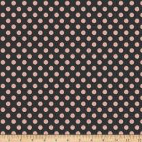 Riley Blake Designs Bliss Dots Black With Rose Gold Sparkle Fabric Fabric by the Yard
