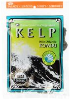 """Sugar Kelp """"Atlantic Kombu"""" Whole Leaf   2 oz Bag   Organic Seaweed   Maine Coast Sea Vegetables"""