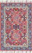 """Loloi Transitional Rectangle Area Rug 3'6""""x5'6"""" in Rose-Denim Color From ZHARAH Collection"""