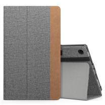 MoKo Case for All-New Amazon Fire HD 8 Tablet (7th/8th Generation, 2017/2018 Release) - Slim Folding Stand Cover for Fire HD 8, Jeans Gray (with Auto Wake/Sleep)