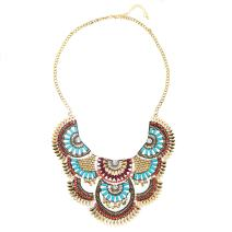 Miraculous Garden Womens Vintage Silver/Gold Turquoise Long Ethnic Tribal Boho Beads Fringe Necklace Bohemia Style Fashion Indian Turkish Themed Necklace Oxidized for Women.