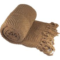 Home Soft Things Knitted Tweed Throw Couch Cover Blanket, 50 x 60, Amphora