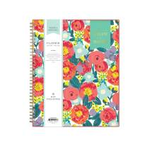"Day Designer for Blue Sky 2019-2020 Academic Year Weekly & Monthly Planner, Flexible Cover, Twin-Wire Binding, 8.5"" x 11"", Floral Sketch"