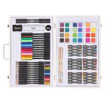 Studio 71 Kids Art Set in Wood Case: 82 pieces Box color may vary