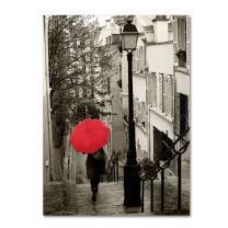 Paris Stroll II Artwork by Sue Schlabach, 14 by 19-Inch Canvas Wall Art