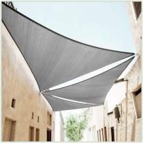 ColourTree 10' x 10' x 14.1' Grey Right Triangle CTAPRT12 Sun Shade Sail Canopy Mesh Fabric UV Block - Commercial Heavy Duty - 190 GSM - 3 Years Warranty (We Make Custom Size)