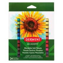 Derwent Academy Pastels, Soft, 24 Pack (98216)