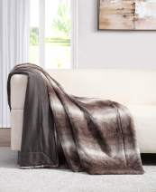 Faux Rabbit Fur Throw Blanket 50x60- Beautiful, Warm, Soft & Cozy Material for Any Season in 5 Styles, Perfect Match for Any Home Decor Setup (Raeburn)
