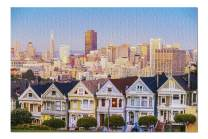 San Francisco, California - The Painted Ladies of San Francisco 9025451 (Premium 1000 Piece Jigsaw Puzzle for Adults, 19x27, Made in USA!)