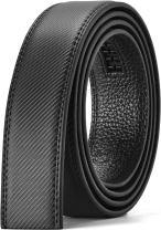 "CHAOREN Ratchet Belt Replacement Strap 1 3/8"", Leather Belt Strap for 40MM Slide Click Buckle"