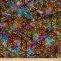 Textile Creations 0456304 Indian Batik Gypsy Dots Purple Fabric by the Yard