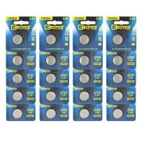 EEMB 3 V CR2025 150 mAh Battery- Button Coin Cell Lithium Battery Perfect for Watches, Car Remote Key, Alarm Clock Toys UL Certified (20 PCS)