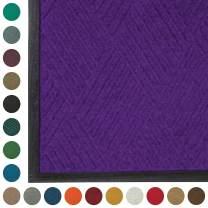 WaterHog  Diamond | Commercial-Grade Entrance Mat with Rubber Border – Indoor/Outdoor, Quick Drying, Stain Resistant Door Mat (Purple, 4' x 12')