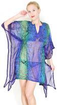 LA LEELA Women's Swimsuit Cover Up Beach Bathing Suit Swimwear Drawstring A