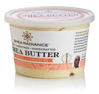 Shea Radiance Pure Unrefined Organic All Natural Moisturizer Shea Butter Whipped Cream Tub for Body Hand Face Belly Skin & Hair (Whipped Large)