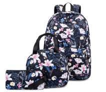 Joymoze Cute Bookbag with Lunch Bag and Pencil Purse Girl Backpack Set Morning Glory