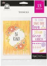 "FolkArt Inspirational Phrases Stencil, 7"" x 10"", Clear"