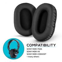 Brainwavz Earpads for Sony MDR 7506, Memory Foam, Compatible MDR V6, V7, CD900ST - Black