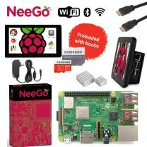 "Raspberry Pi 3 B+ (B Plus) Ultimate Kit – Complete Set Includes Raspberry pi Motherboard, 7"" Touchscreen Display, Power Supply, 32GB SD Card, 2 Heatsinks, Official Case & 6ft HDMI Cable"