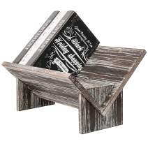 MyGift Torched Wood Tilted Desktop Bookshelf