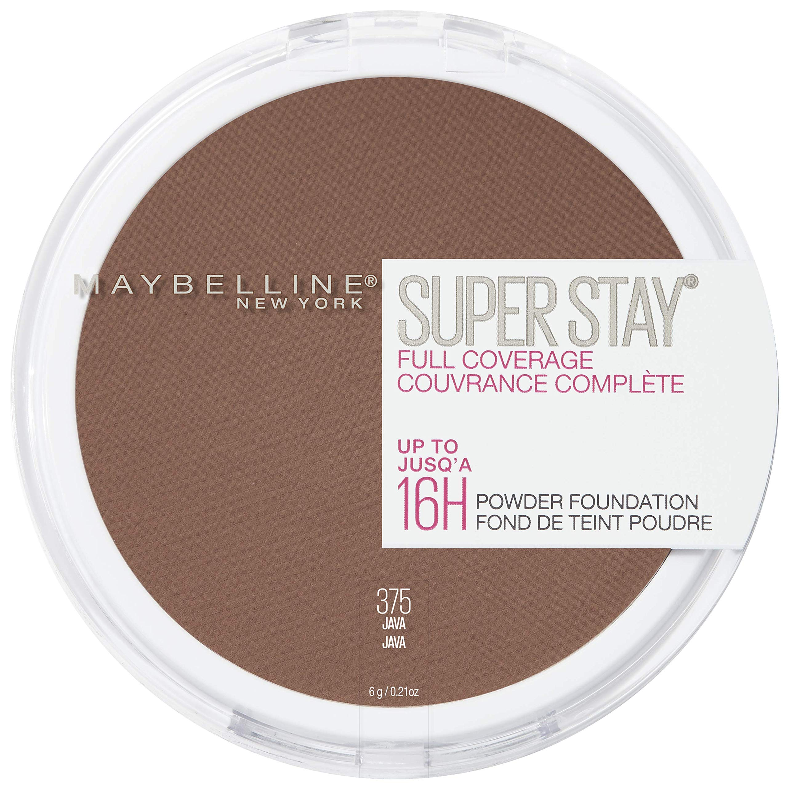 Maybelline New York Super Stay Full Coverage Powder Foundation Makeup, 0.21 Ounce