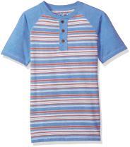 Lucky Brand Boys' Short Sleeve Dip Dye Henley