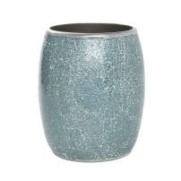 Zenna Home, India Ink Number 9 Floral Waste Basket, Aqua