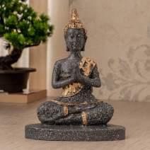 TIED RIBBONS Lord Buddha Idol Statue Figurine Collectible for Home Decor-Meditation Decor,Spiritual Living Room Decor,Yoga Zen Decor, Hindu and East Asian Buddhism Decor, Polyresin