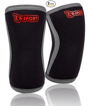 Knee Sleeves 5 mm Neoprene - Prevent Injury, Add Warmth and Limit Patella Movement - Great Support and Compression Brace for Squats