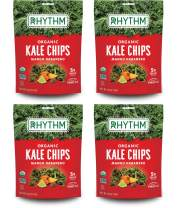 Rhythm Superfoods Kale Chips, Mango Habanero, Organic and Non-GMO, 2.0 Oz (Pack of 4), Vegan/Gluten-Free Superfood Snacks