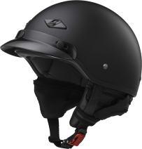 LS2 Helmets Unisex-Adult Half-Size-Helmet-Style Bagger Helmet (Matt Black, Small)