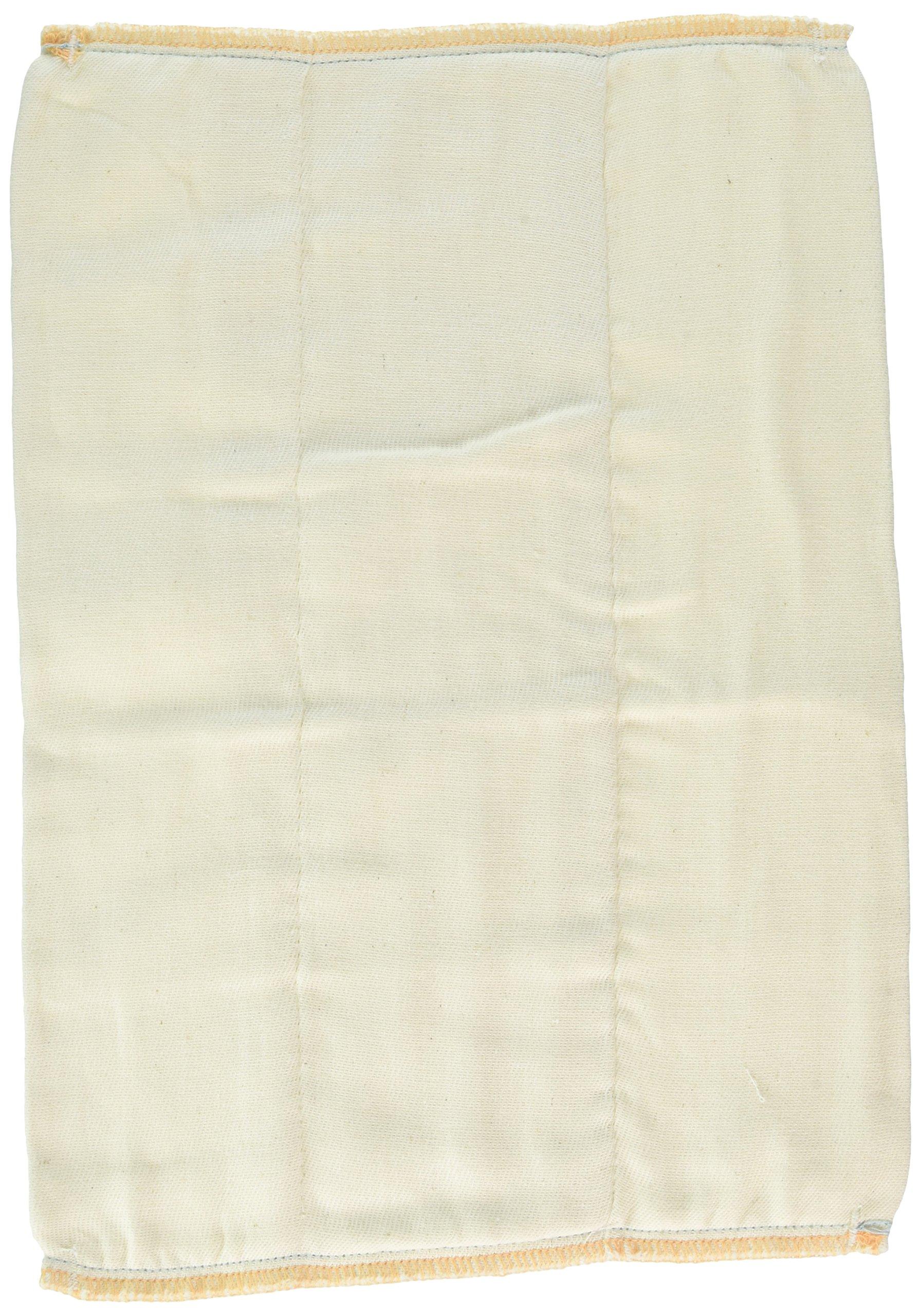 OsoCozy Unbleached Prefold Cloth Diapers – 12 Count, Newborn - 4x6x4 (6-11 lbs)