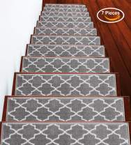 """Stair Treads Trellisville Collection Contemporary, Cozy, Vibrant and Soft Stair Treads 