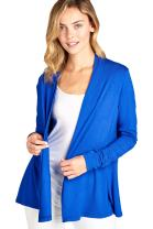 Women Casual Lightweight Soft Bamboo Cardigan Open Front Lounge - Made in USA