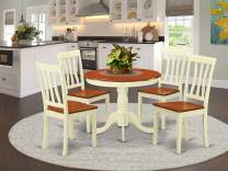 Dining set - 5 Pcs with 4 Wood Chairs in Buttermilk