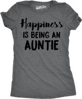 Womens Happiness is Being an Auntie Funny for Best Aunt T Shirt Cool