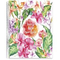 Tools4Wisdom Softcover Planner 2021-2022 - April 2021 to June 2022 Academic Year Calendar - 8.5 x 11 B&W Daily Planner Pages - Monthly Tabs - Q2N - Keep Life Simple