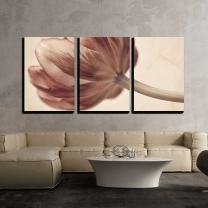 """wall26 - 3 Piece Canvas Wall Art - Tulips Blossom in Retro Vintage Style Editing - Modern Home Decor Stretched and Framed Ready to Hang - 24""""x36""""x3 Panels"""