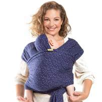 Boba Baby Wrap Carrier, Plum Ikat - The Original Child and Newborn Sling, Perfect for Infants and Babies Up to 35 lbs (0-36 Months)