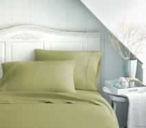 Becky Cameron ienjoy Home 3 Piece Double Brushed Microfiber Bed Sheet Set, Twin XL, Sage, TWINXL
