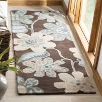 "Safavieh Bella Collection BEL220A Handmade Brown and Multi Premium Wool Runner (2'3"" x 7')"