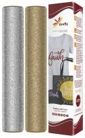 "Firefly Craft Glitter Heat Transfer Vinyl Bundle | Glitter Iron On Vinyl for Cricut and Silhouette | Pack of 2 Best Selling Colors - Glitter Gold HTV - 12"" x 20"" Each"