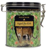 Pantenger Aged Puerh Tea Loose Leaf. USDA Organic Pu-erh. Pantenger Raw Pu-erh or Sheng Pu'erh is now light and sweet and has a green grapes aroma. 40 Grams. 20 Servings. This tea allows many brews.