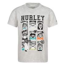 Hurley Boys' Little Character Graphic T-Shirt, Birch Heather Shark Class, 4