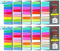 4A Sticky Notes Flags Set,44 Different Colors,Page Marker Fluorescent Color Index Label, Transparent Tabs Flags Stickers,Text Highlighter Strips Writable Labels 12x44mm,1760 Sheets Total,4A 60144x2